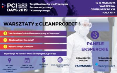 Bezpłatne warsztaty z Cleanproject na targach PCI Days 2019